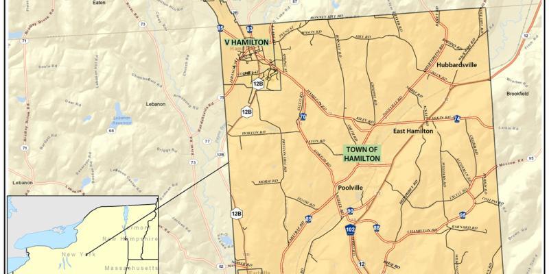 Town of Hamilton NY Map
